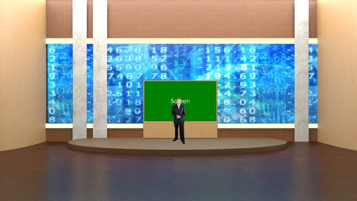 Simple Conference Room Virtual Set