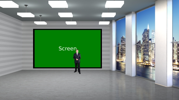 Simple TV Wall Virtual Set