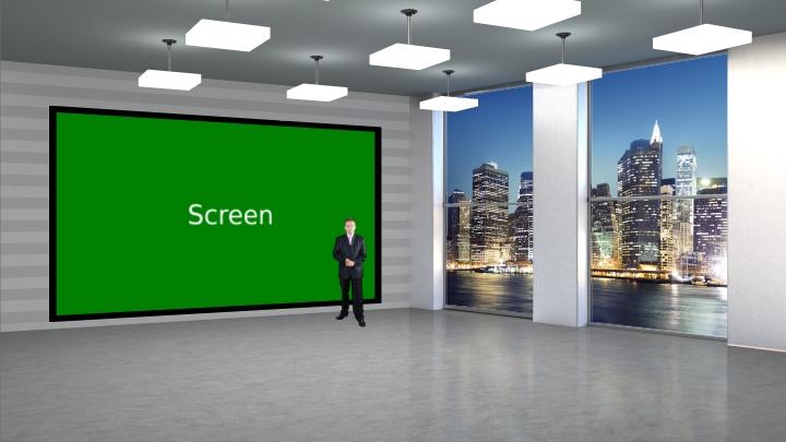 Simple Tv Wall Virtual Set Datavideo Virtualset