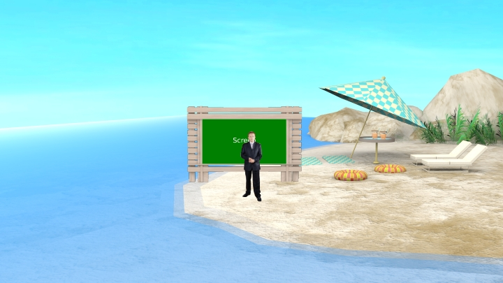 Simple Seaside Virtual Set