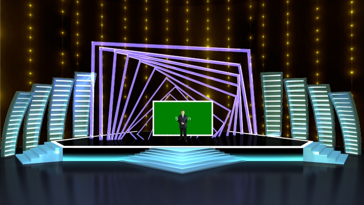 Simple Square Frame Annular Stage Virtual Set