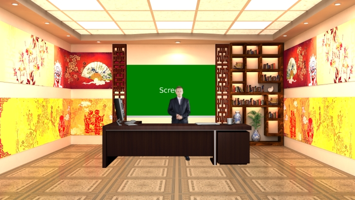 Chinese Traditional Opera Style Virtual Set