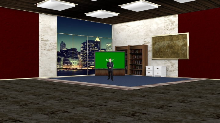 Simple and Generous Virtual Talk Show Set