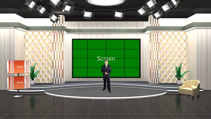 Artistic Interview Program Virtual Set