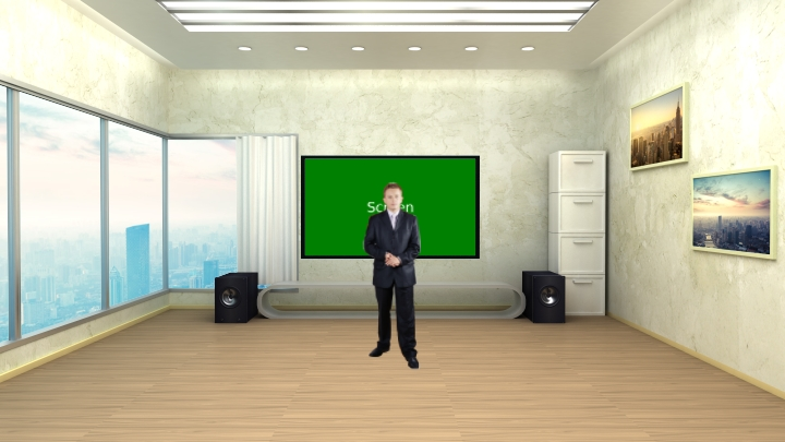 Simple Audio Visual Room Presentation Virtual Set Studio