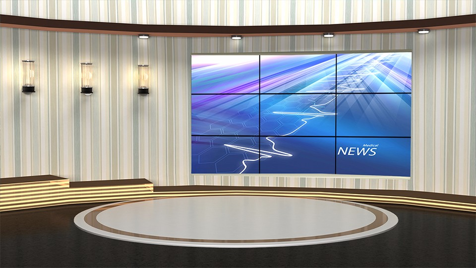 Simple Elegant Wallpaper Design Virtual Presentation Studio Set