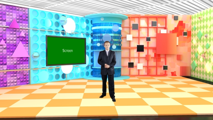 Geometrical Patterns Style Entertainment Virtual Set Studio
