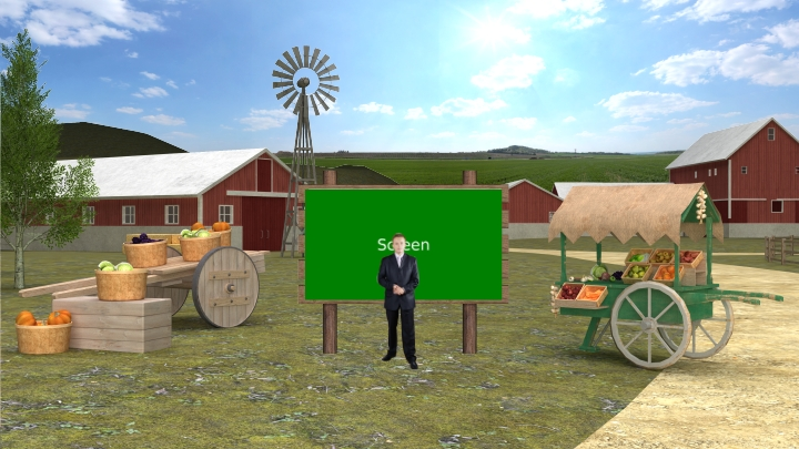 Pastoral Farm Style Entertainment Virtual Set Studio