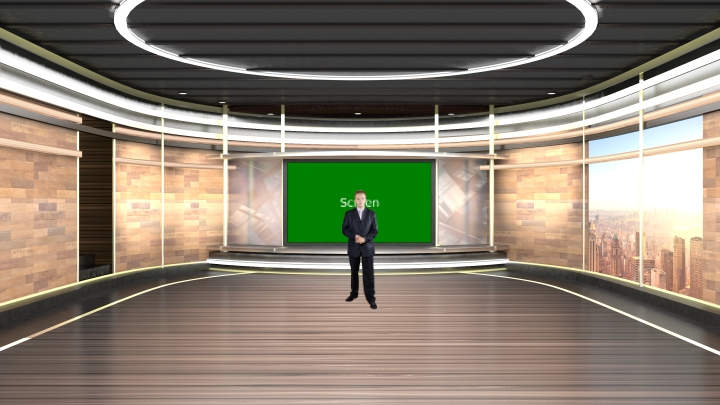 Warm Colour Style Design Virtual Set Studio