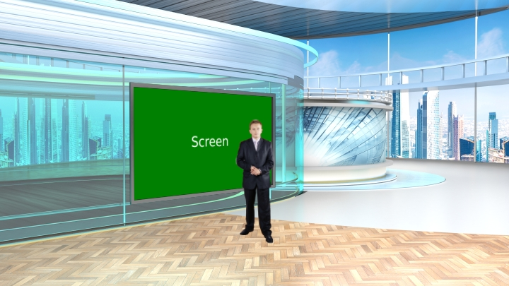 Weather Forecast Virtual News Set Studio