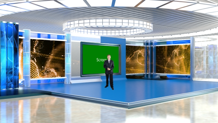 Brilliant Design TV Wall Virtual News Set