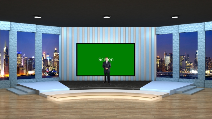 Interview Show Programs Use Virtual Set Studio