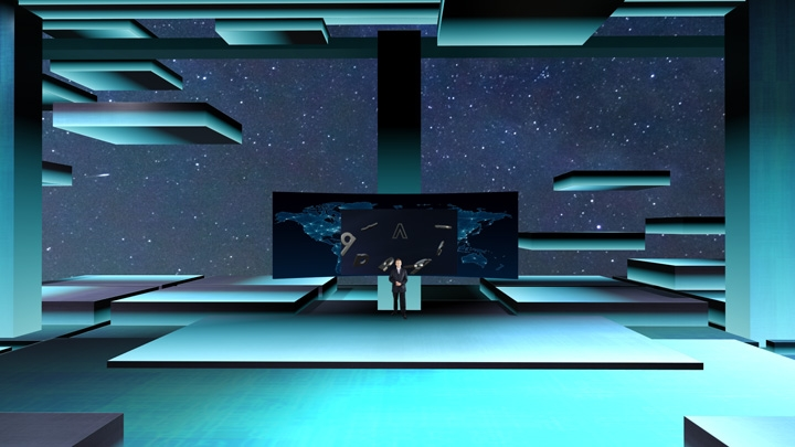 【TVS-2000A】Sci-fi Interstellar Virtual Set