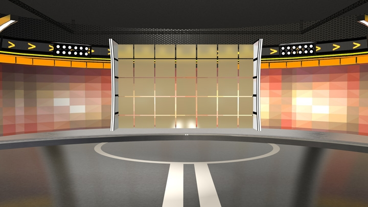 【TVS-2000A Template】Bright Sporty Virtual Set