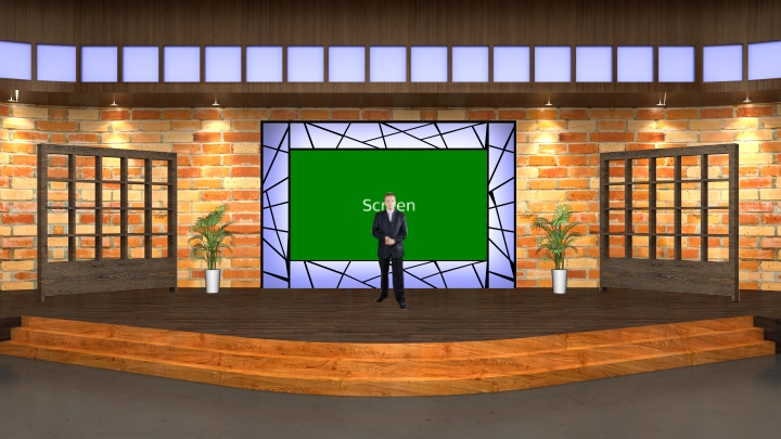 Countryside Style Talk Show Virtual Set