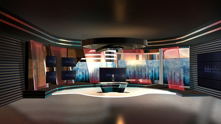 【TVS-2000A】World Financial News Virtual Studio Set