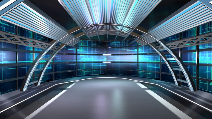 【TVS-2000A Template】Science Fiction Virtual News Set