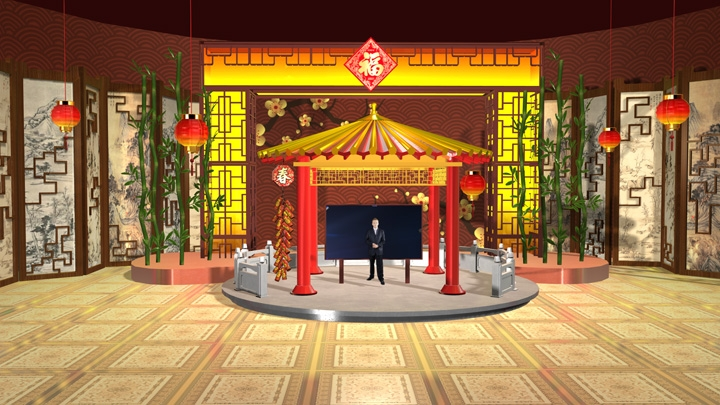 【TVS-2000A】Chinese New Year Virtual Set